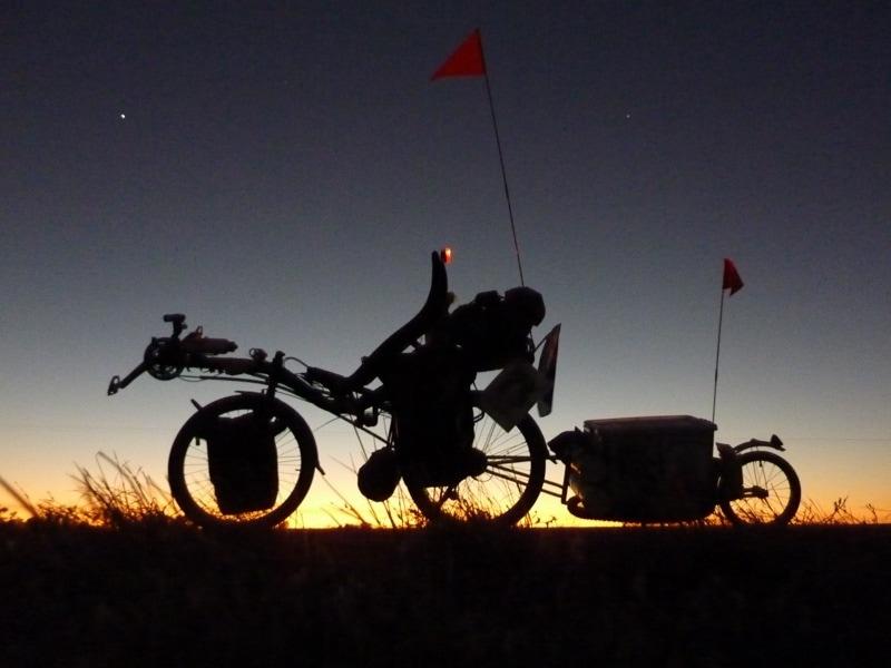 Igor riding his MAX around Australia
