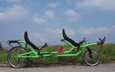 Amazing recumbent tandem for Japan
