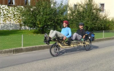 First AZUB TWIN recumbent tandem in Switzerland