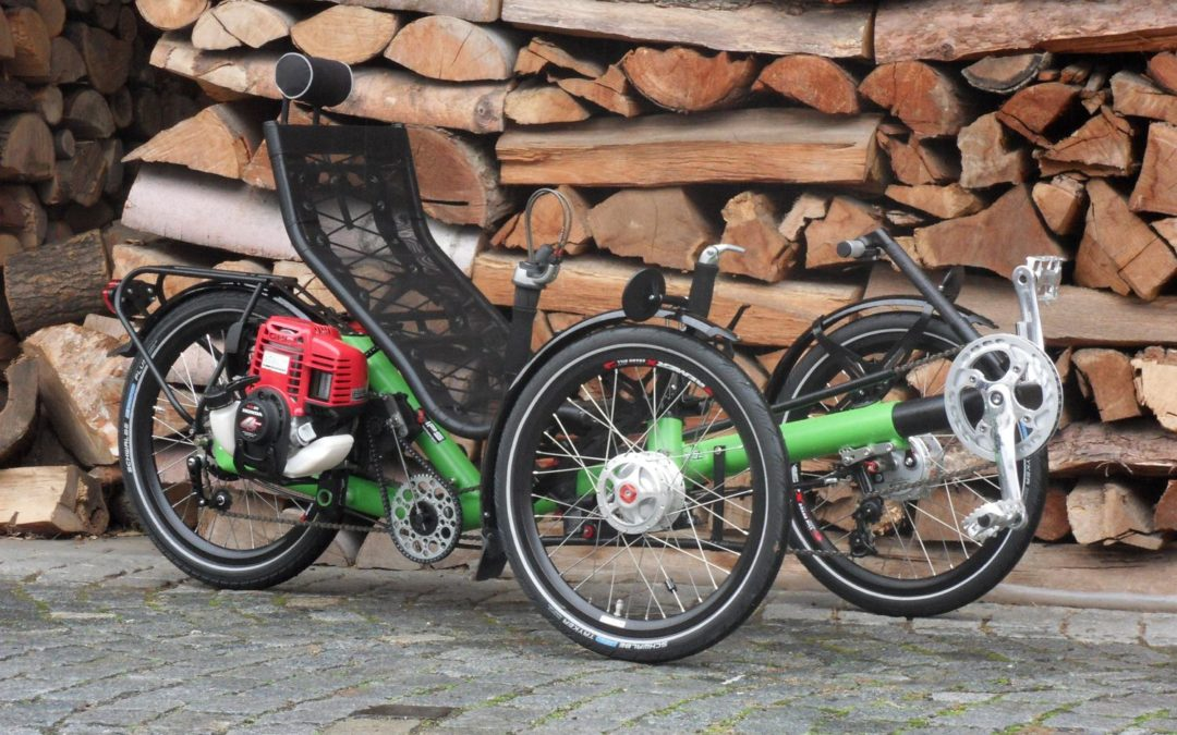 The first AZUB trike powered by petrol
