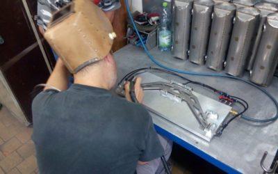 Titanium leaf spring welding