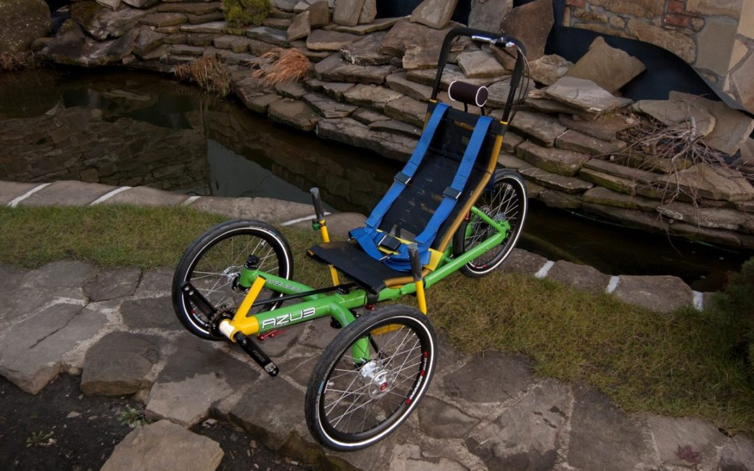 Two unique AZUB trikes for disabled riders