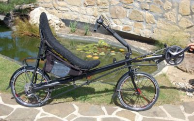 Folding recumbent AZUB Origami equipped by Shimano XTR