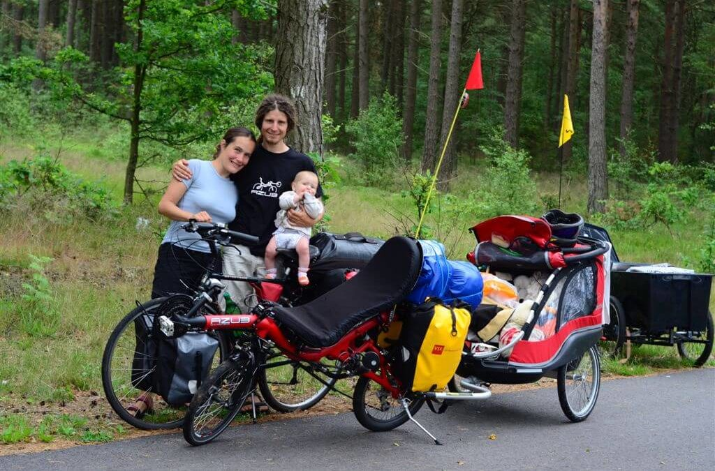 Travelling with six months old baby on AZUB Mini