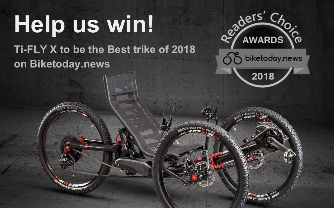 HELP US WIN THE BEST TRIKE OF 2018!