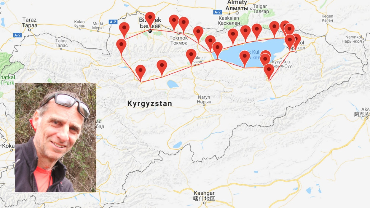 the trip to kyrgyzstan on a recumbent bike