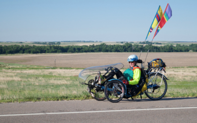 James biked Across Kansas and many other US states