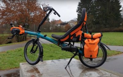 Electric folding recumbent AZUB Origami with Shimano STEPS E6100