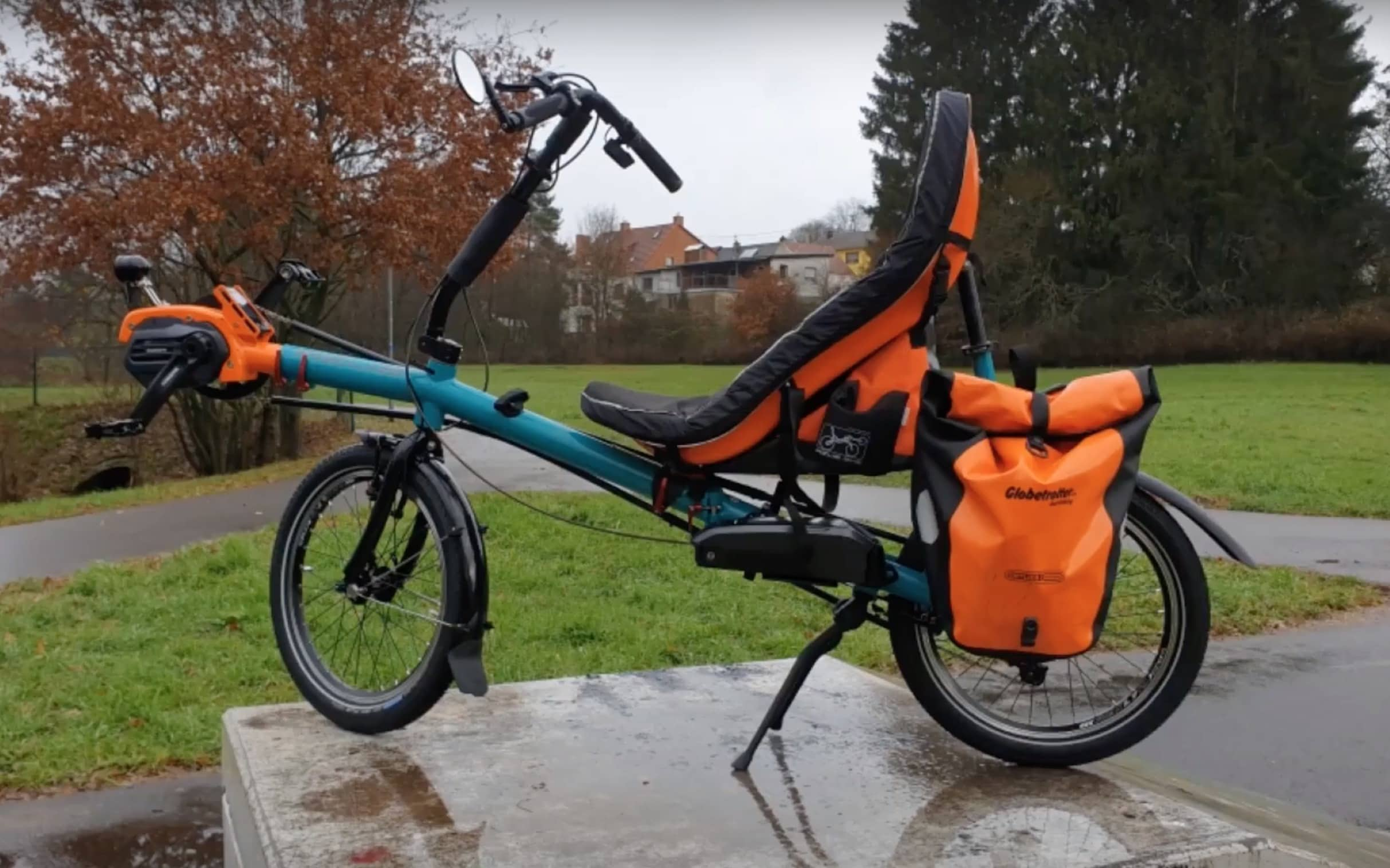 electric folding recumbent AZUB Origami