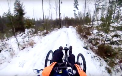 Electric trike winter ride in Finland