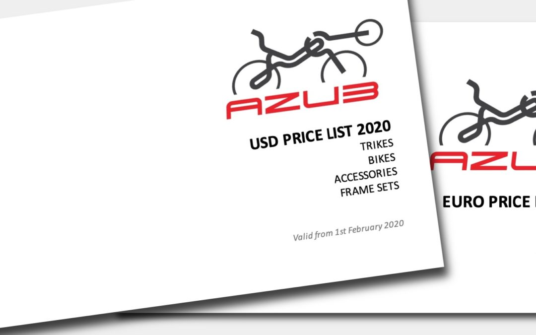 2020 price lists available