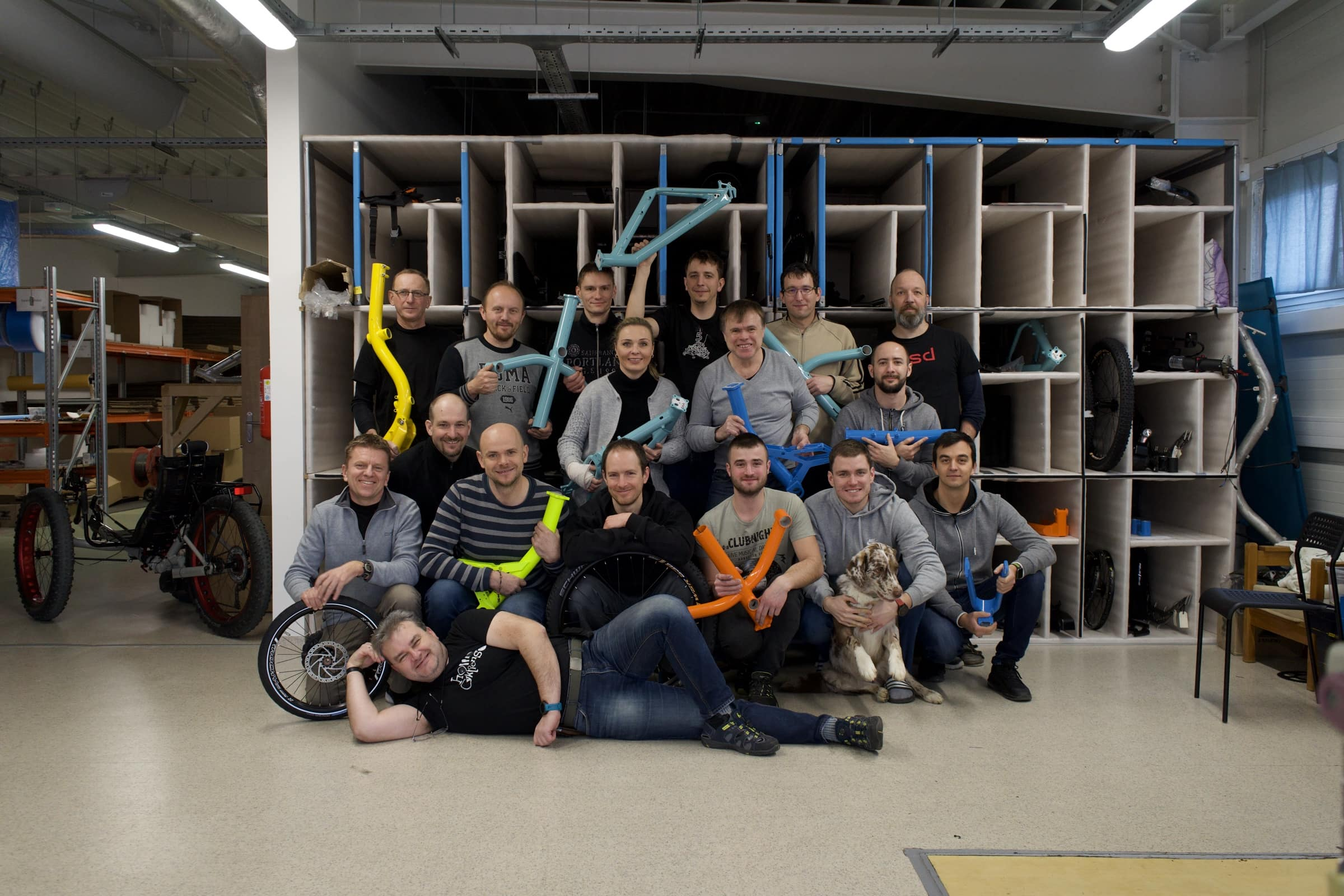 AZUB team - where we build our recumbents