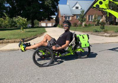 Matt and his great neon yellow trike