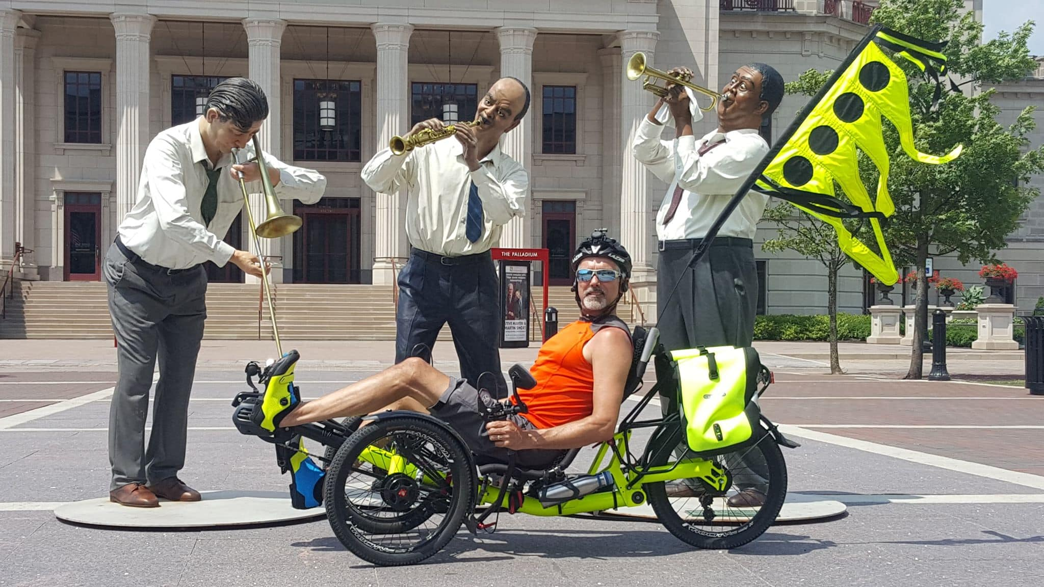 This is Matt's AZUB Ti-FLY 20 recumbent electric trike
