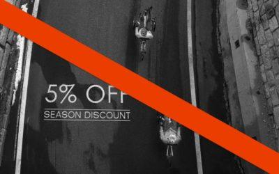 NO winter discount