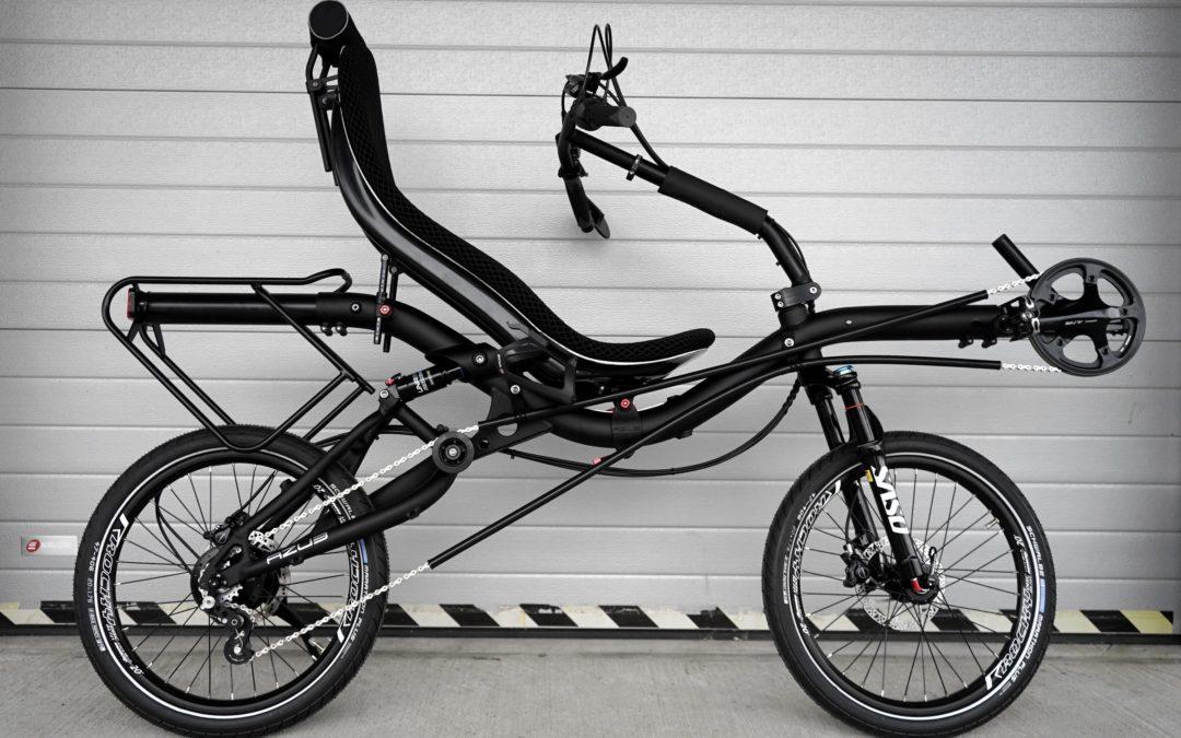 The BATbike – deep black AZUB MINI with Rohloff