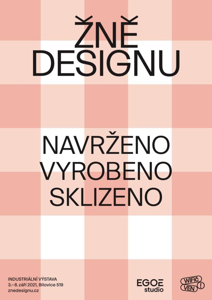 Plakát výstavy Žně designu
