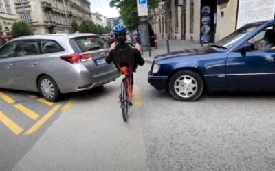 Car vs. recumbent bike race